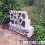 L-Stein-Betonblockverbund